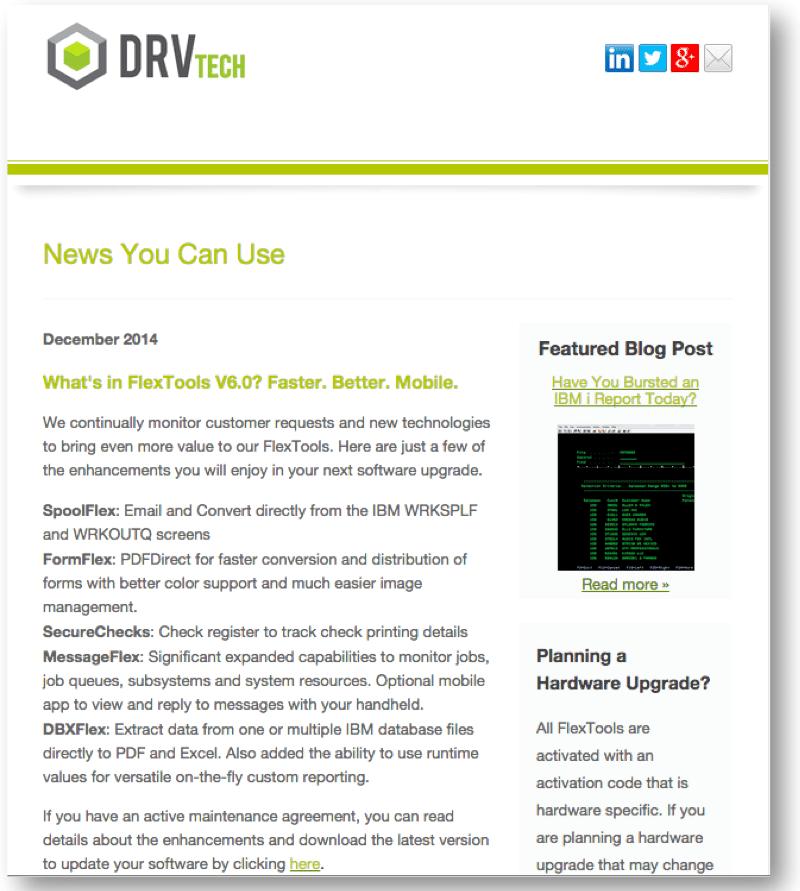 DRV Tech December Newsletter