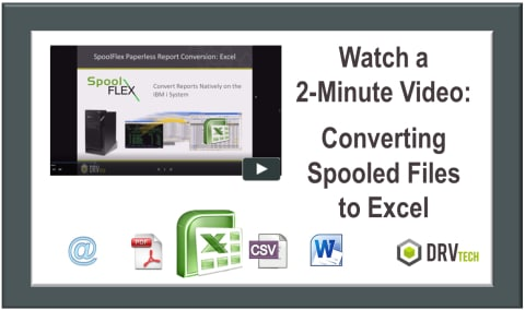 Watch a 2 Minute Video about Converting Spool Files to Excel